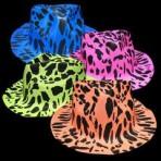 Neon Animal Print Fedoras